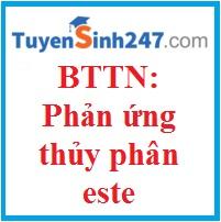 50 BTTN: Phản ứng thủy phân este ( có đáp án)