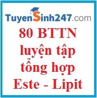 80 BTTN Luyện tập tổng hợp về este - lipit