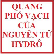 Quang phổ vạch của nguyên tử hyđrô ( hay)