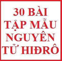 30 bài tập mẫu nguyên tử hidro (hay)