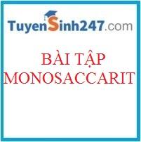 Chuyên đề bài tập monosaccarit
