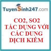 BÀI TẬP VỀ PHẢN ỨNG CỦA CO2, SO2 VỚI CÁC DUNG DỊCH KIỀM