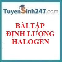 Bài tập định lượng chương halogen