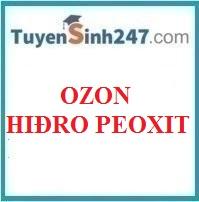 Ozon và hiđro peoxit