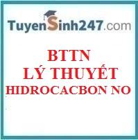 BTTN lý thuyết hidrocacbonn no