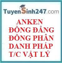 Anken - Đồng đẳng, đồng phân, danh pháp, tính chất vật lý