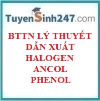 BTTN lý thuyết dẫn xuất halogen - ancol - phenol