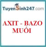 Axit - bazo - muối