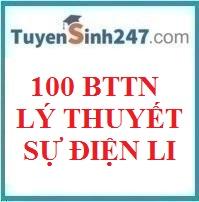 100 BTTN lý thuyết sự điện li