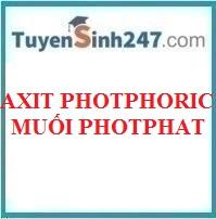 Axit photphoric và muối photphat