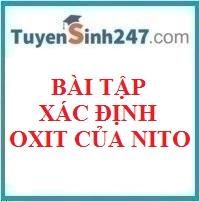 Bài tập tìm công thức oxit của nito