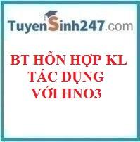 Bài tập hh kim loại tác dụng với HNO3