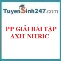 Phương pháp giải bài tập axit nitric