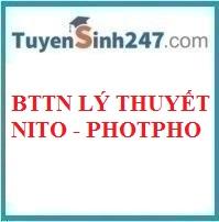 Bài tập trắc nghiệm lý thuyết nito - photpho
