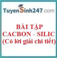 Bài tập cacbon - silic (có lời giải chi tiết)