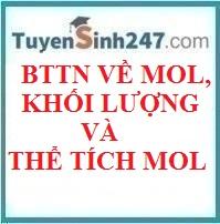 BTTN về mol, khối lượng, thể tích mol