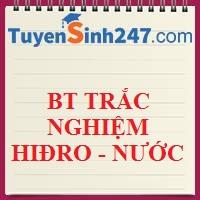 BTTN tổng hợp chương 5 : Hiđro - nước