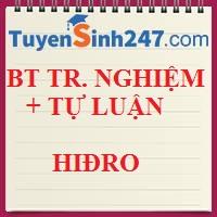 BT tổng hợp (TN + TL) Hiđro - Nước