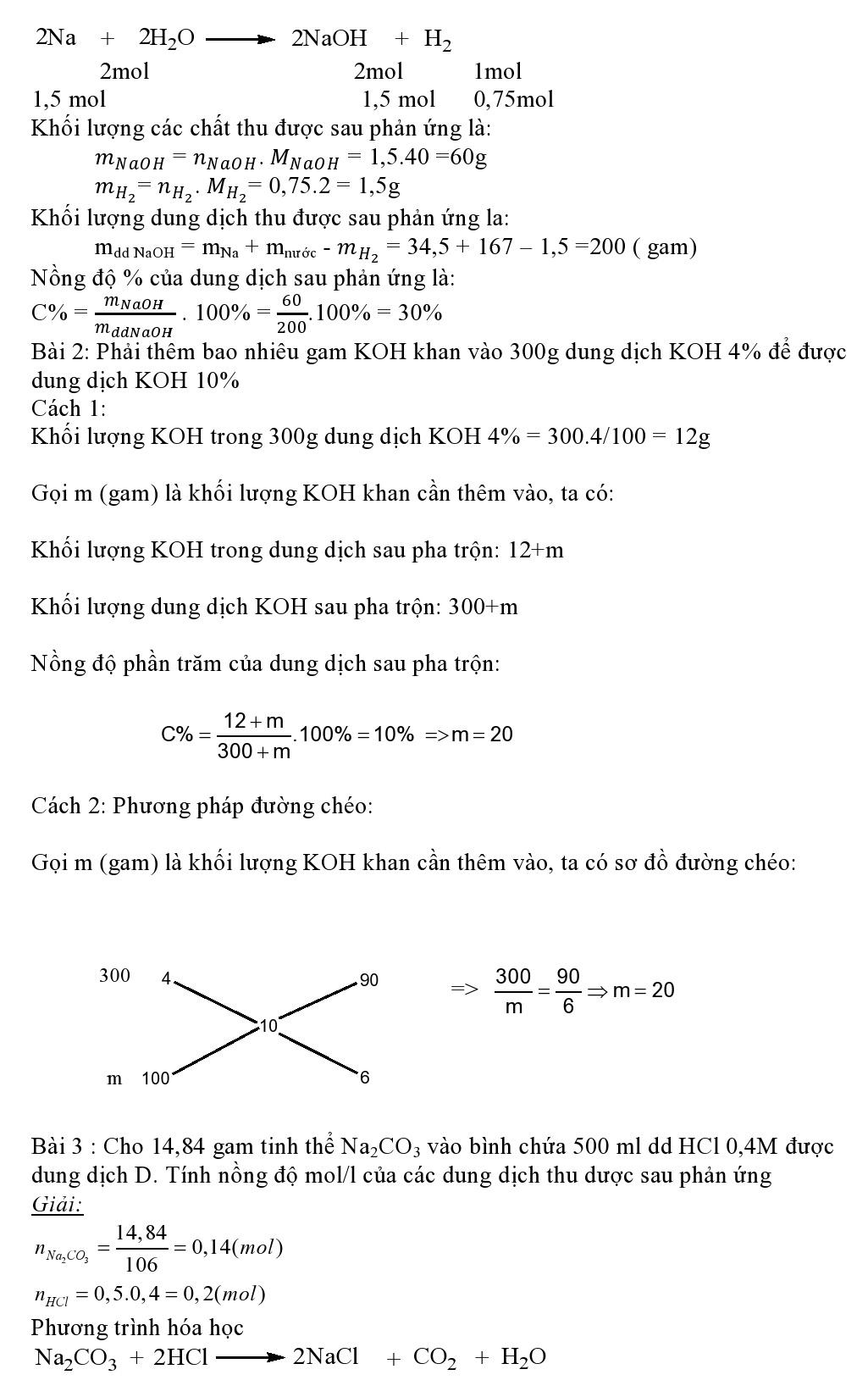 Bài toán hòa tan một chất vào nước hay một dd cho sẵn