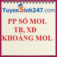PP số mol trung bình và x/đ khoảng số mol