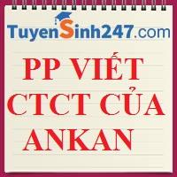 PP viết CTCT của ankan