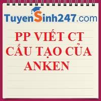 PP viết CTCT của anken