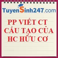 PP viết CTCT các hợp chất hữu cơ