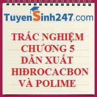 BT trắc nghiệm chương 5 : dẫn xuất hiđrocacbon - polime (có đáp án)