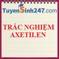 Trắc nghiệm Axetilen