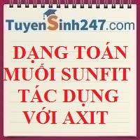 Dạng toán muối sunfit tác dụng với axit