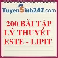 200 bài tập lý thuyết este - lipit