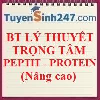 Bài tập lý thuyết trọng tâm peptit và protein (nâng cao)