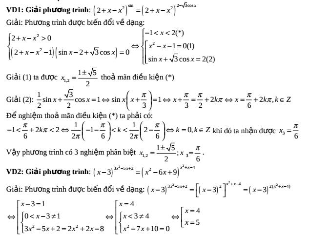 Các phương pháp giải phương trình, bất phương trình, hệ phương trình mũ – Nguyễn Trung Kiên