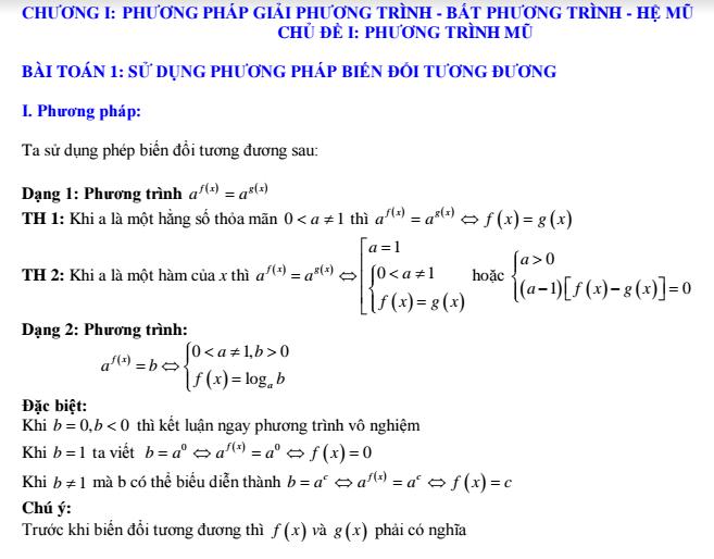 Tổng hợp chuyên đề Mũ - Logarit của Nguyễn Thành Long - hay và có lời giải chi tiết