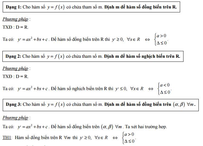 Tổng hợp 31 dạng thường gặp của chuyên đề khảo sát hàm số và phương pháp giải