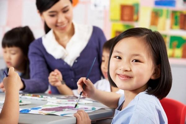 Đề thi học kì 1 môn Tiếng Việt lớp 1 năm 2015 trường Tiểu Học Giao Hương