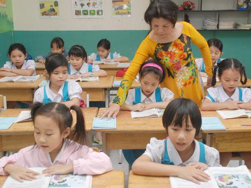 Đề thi giữa học kì 1 môn Tiếng Việt lớp 1 năm 2014 trường Tiểu Học Hứa Tạo