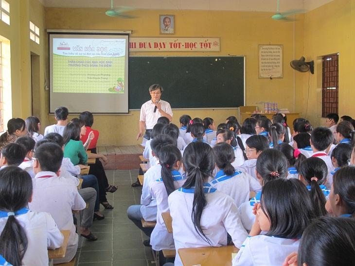 Đề thi giữa học kì 1 môn Anh lớp 9 năm 2015 - Duy Tiên
