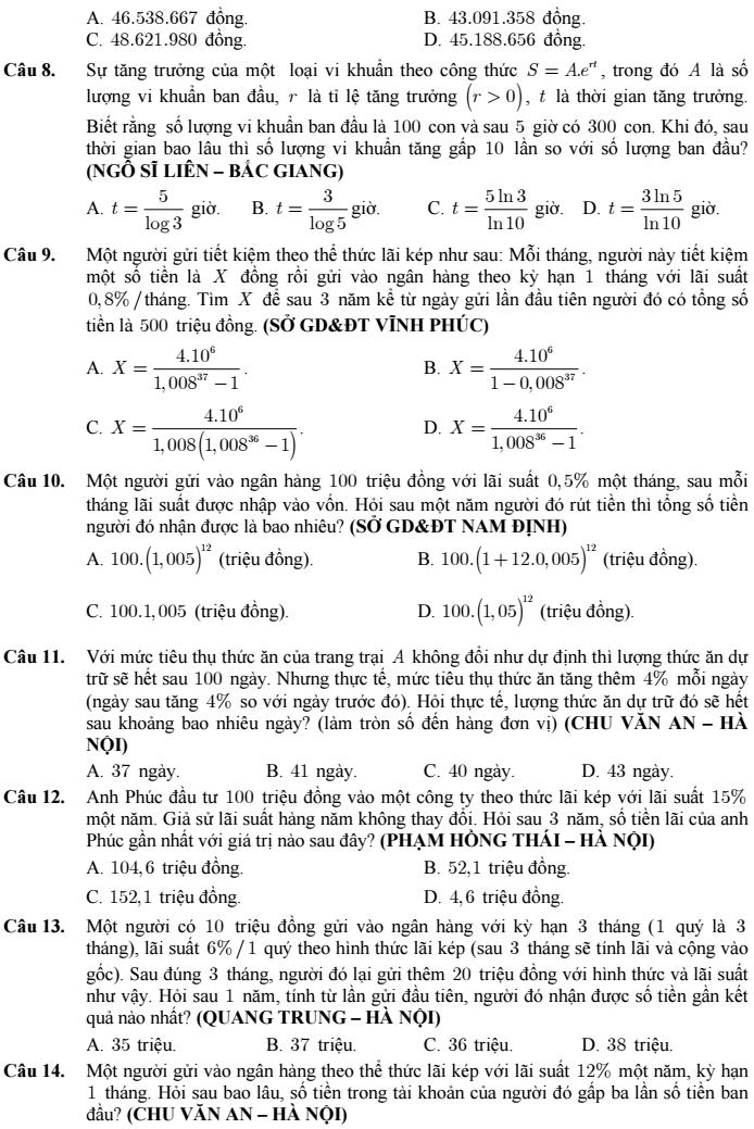 100 bài toán lãi suất ngân hàng và bài toán thực tế - Nguyễn Văn Rin