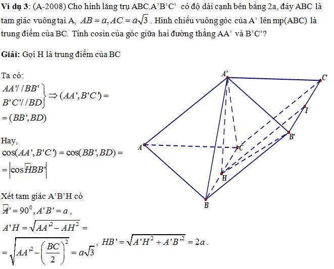 Phương pháp và các dạng toán về quan hệ vuông góc trong không gian - rất hay