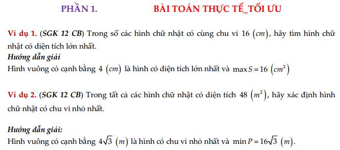 Bài toán thực tế - Bài toán tối ưu Max - Min