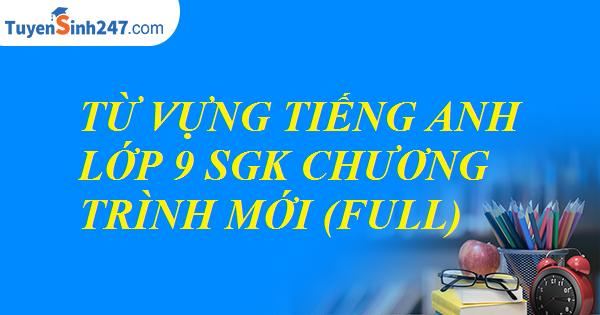 Từ vựng tiếng Anh lớp 9 SGK chương trình mới (full)