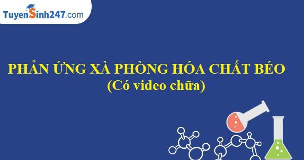 Phản ứng xà phòng hóa chất béo (có video chữa)