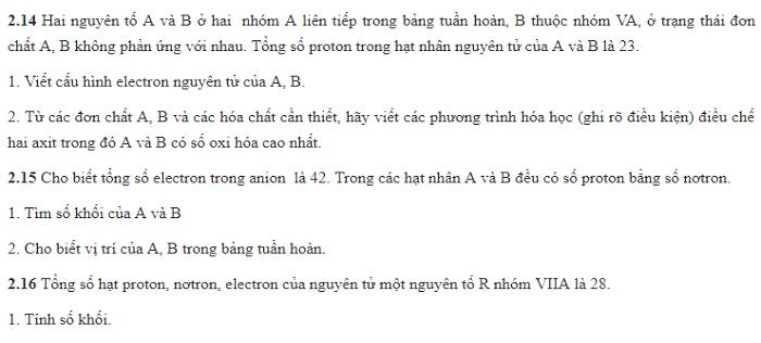 Bài tập trắc nghiệm tổng hợp bảng tuần hoàn (Có lời giải chi tiết)