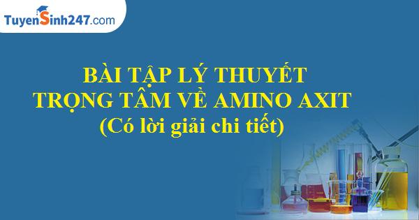 Bài tập lý thuyết trọng tâm về amino axit (có lời giải chi tiết)