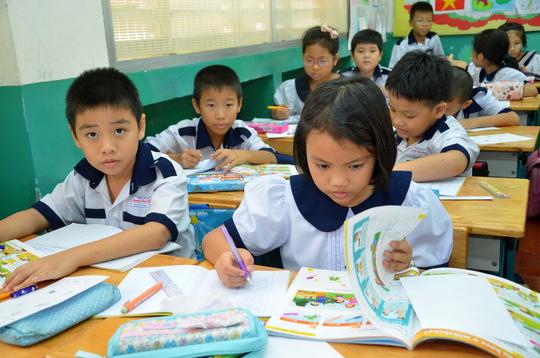 Đề kiểm tra 8 tuần kì 1 môn Toán lớp 4 - Tiểu Học Nguyễn Viết Xuân 2017