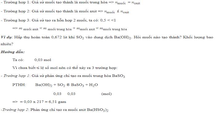 Giải toán CO2 tác dụng với dd kiềm bằng pp biện luận