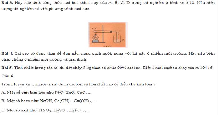 Lý thuyết cacbon (Có bài tập áp dụng)
