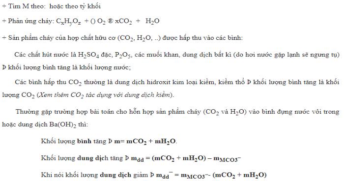Lập công thức phân tử hợp chất hữu cơ (có ví dụ minh họa)