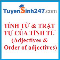 Tính từ và trật tự của tính từ (Adjectives and order of adjectives)